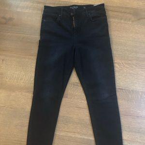 Bridgette Skinny Lucky Brand Step Hem Black Jeans